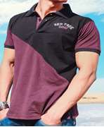 Red Tree Purple & Black Polo T-Shirt With Logo Embroidery