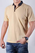 Red Tree Polo-TS Cream With Doted Collor RT-1397