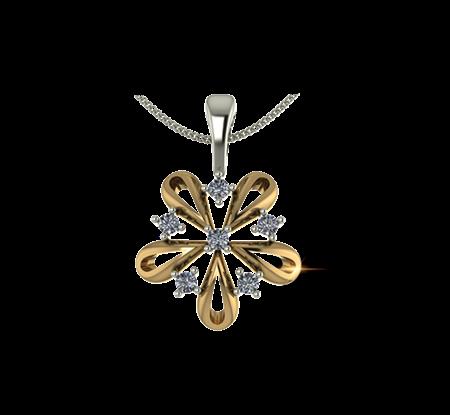 Buy ARY Jewellers Silver Diamond Locket L009  online