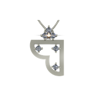 ARY Jewellers Silver Daimond Locket L002