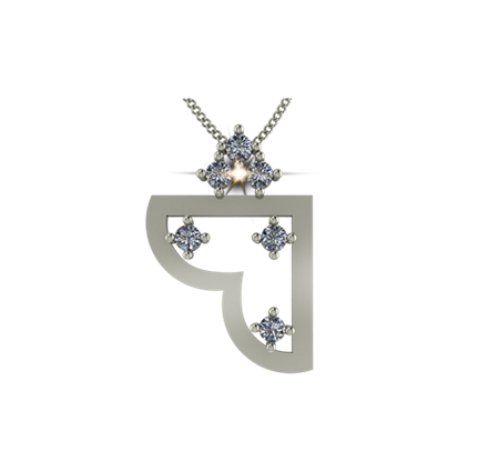 Buy ARY Jewellers Silver Daimond Locket L002  online