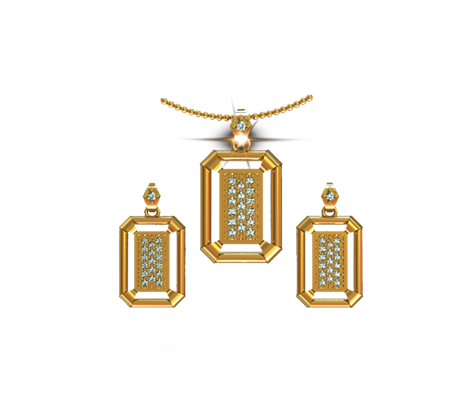 Buy ARY Jewellers Silver Locket Set S001  online