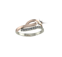ARY Jewellers Silver Diamond Ring R-03