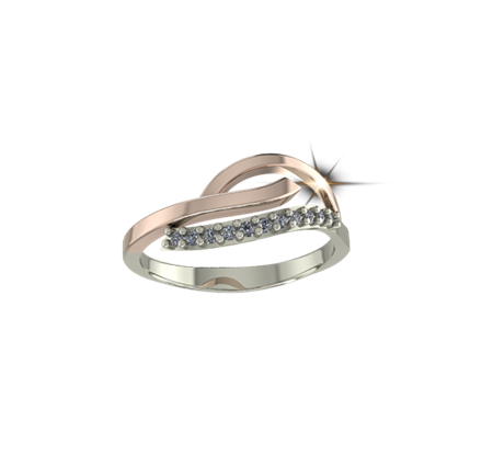 Buy ARY Jewellers Silver Diamond Ring R-03  online