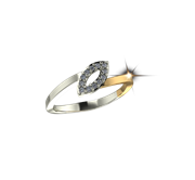ARY Jewellers Silver Diamond Ring R-04
