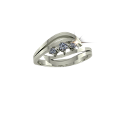 ARY Jewellers Silver Daimond Ring R05