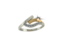 ARY Jewellers Silver Daimond Ring R02