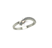 ARY Jewellers Silver Diamond Ring R-08