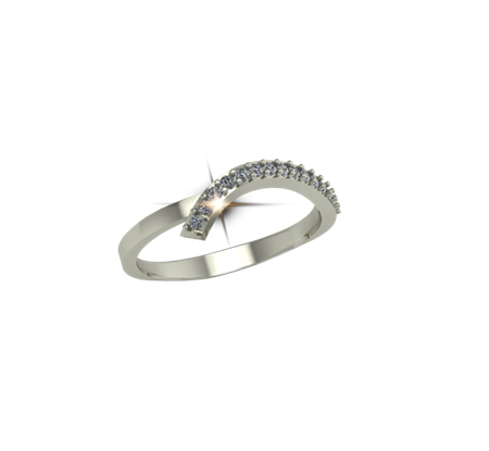 Buy ARY Jewellers Silver Diamond Ring R-08  online
