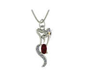 ARY Jewellers Silver Locket L008