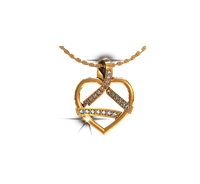 ARY Jewellers Silver Locket L003
