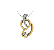 ARY Jewellers Silver Daimond Locket L005