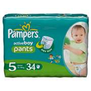 Pampers Active Boy Value Pants [Size 5, 34 Counts]