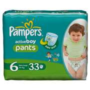 Pampers Active Boy Value Pants [Size 6, 33 Counts]