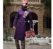 Ahmed & Waleed Multi Embroided Kurta
