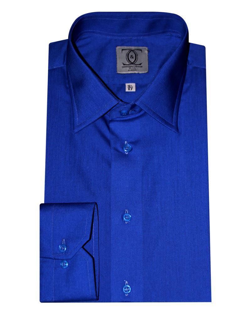 Cotton Cotton Royal Blue Shirt Cotton Cotton