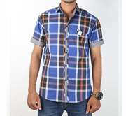 DS Collection Casual Shirt Half Sleeves Blue Check