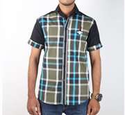 DS Collection Casual Shirt Half Sleeves Green & Black