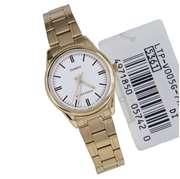 Casio LTP-V-005G - Steel Analog Watch For Women - Golden
