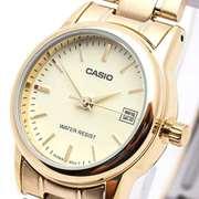 Casio LTP-V-002G - Steel Analog Watch For Women - Golden