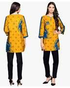 Karachi Kings Yellow & Blue Kurti