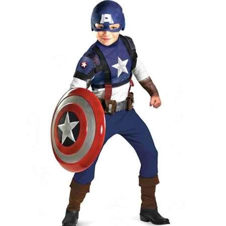 Buy Boys Deluxe Captain America Costume  online