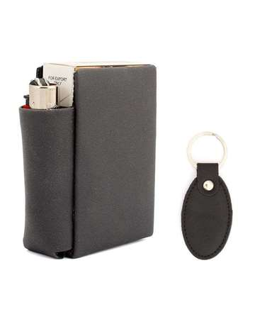 Buy Pack of Leather Cigarette Case and Key Ring  online