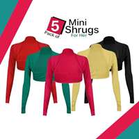 Pack of 5 Mini Shrugs for Her
