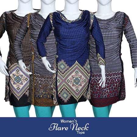 Buy Womens Flare Neck Tops  online