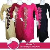 Buy Womens Flower Style Long Kurti  online