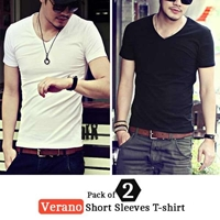 Special Diamond Deal  Pack of 2 Verano Short Sleeves T-shirt