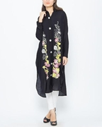 Special Diamond Deal Afreen's Collection Black Printed Stylish Kurta