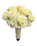 Pearl White Rose Bouquet